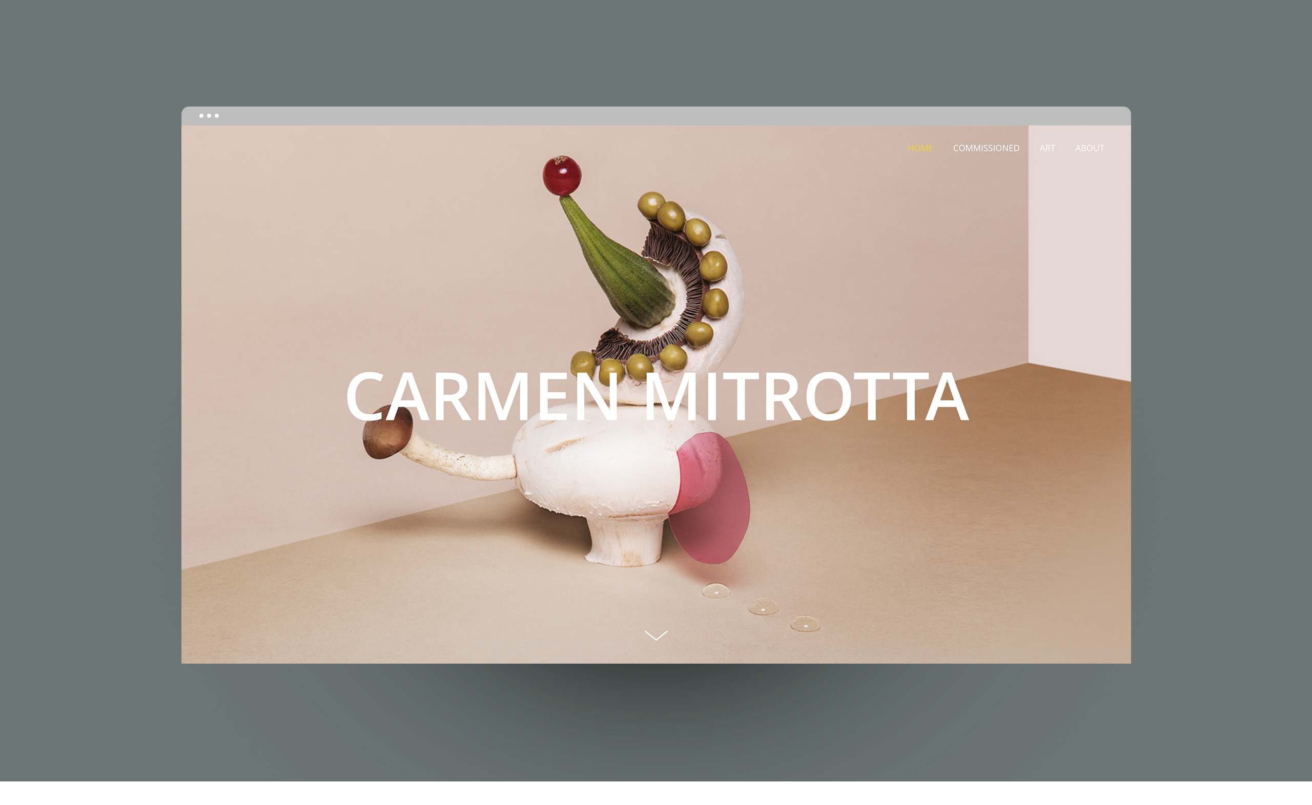 Mockup sito Carmen_homepage_space